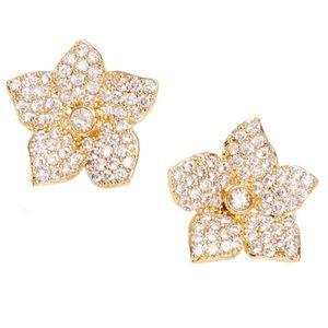 Kate Spade Gold Bloom Pavé Crystal Earrings